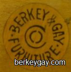 Berkey and Gay Branded Label