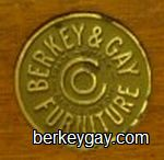 Berkey and Gay Brass Label