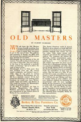 Photo of Berkey & Gay Old Masters Ad